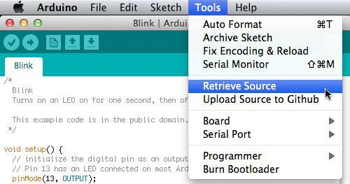 Retrieving source code from an Arduino | Interactive