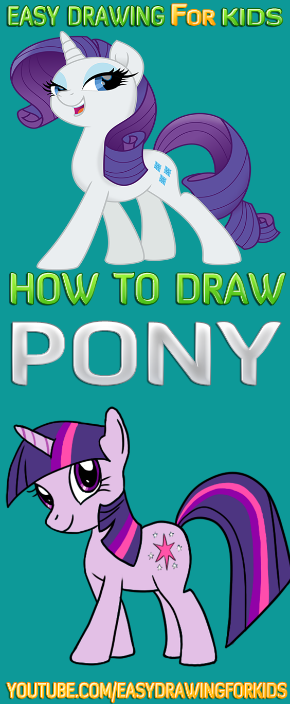 How To Draw A Pony Step By Step Easy My Little Pony Coloring