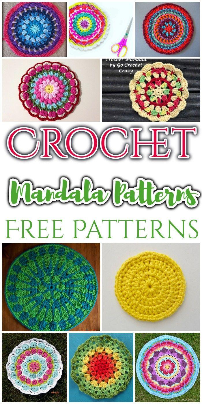 15+Crochet Mandala Patterns - Free Patterns • DIY Home Decor #crochetmandalapattern