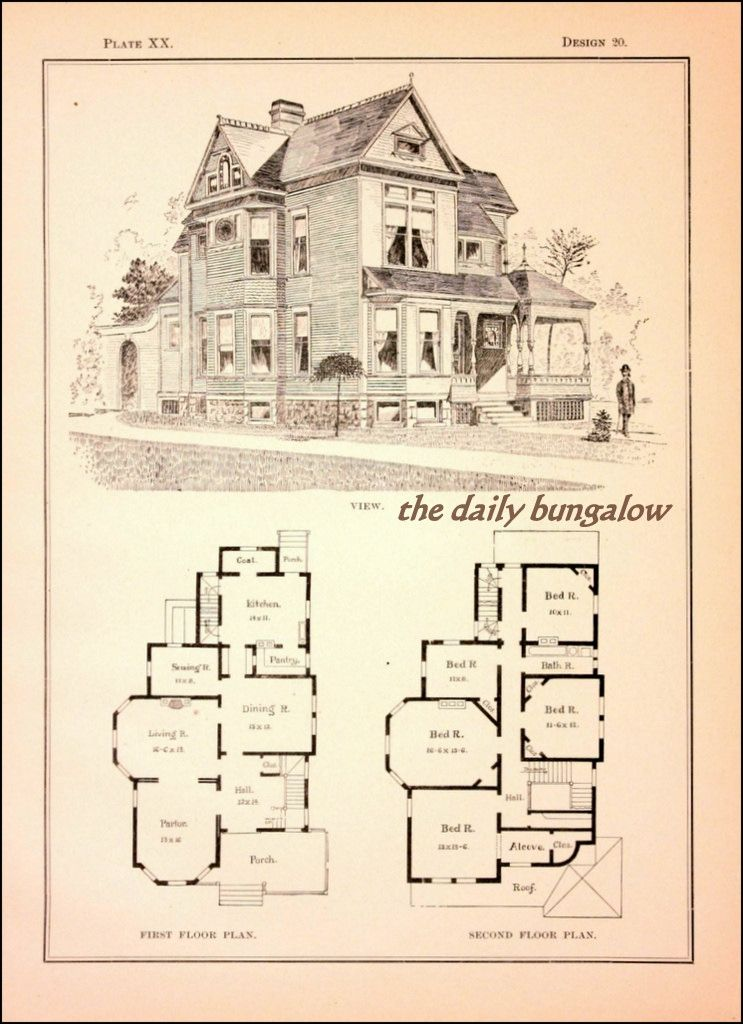 Modern Cottages J H Kirby Architect Victorian House Plans How To Plan Vintage House Plans
