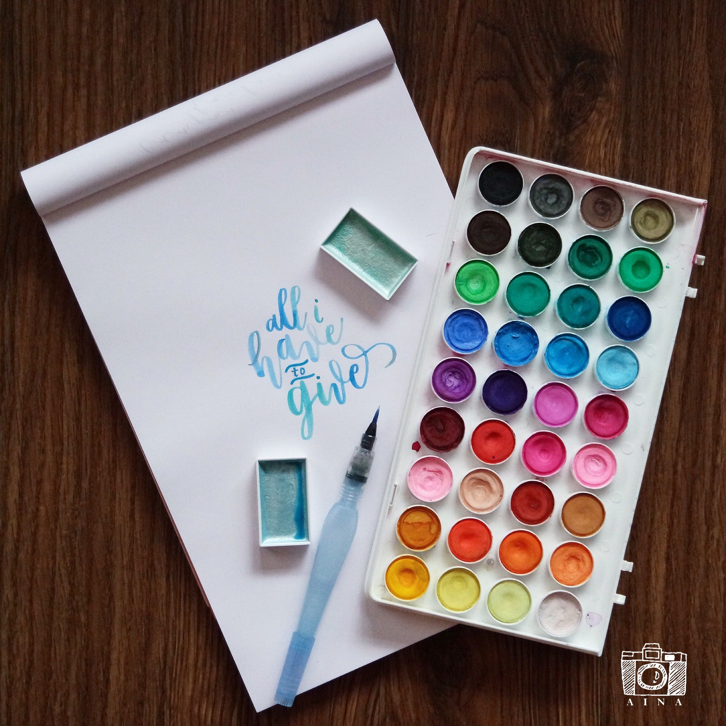 Brush And Watercolor Calligraphy Watercolor Calligraphy Doodles