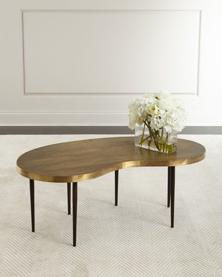 Arteriors Rein Brass Coffee Table With Images Coffee Table
