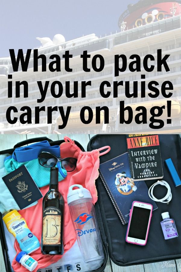 Essential Packing List for Cruise Ship Carry On Bag!