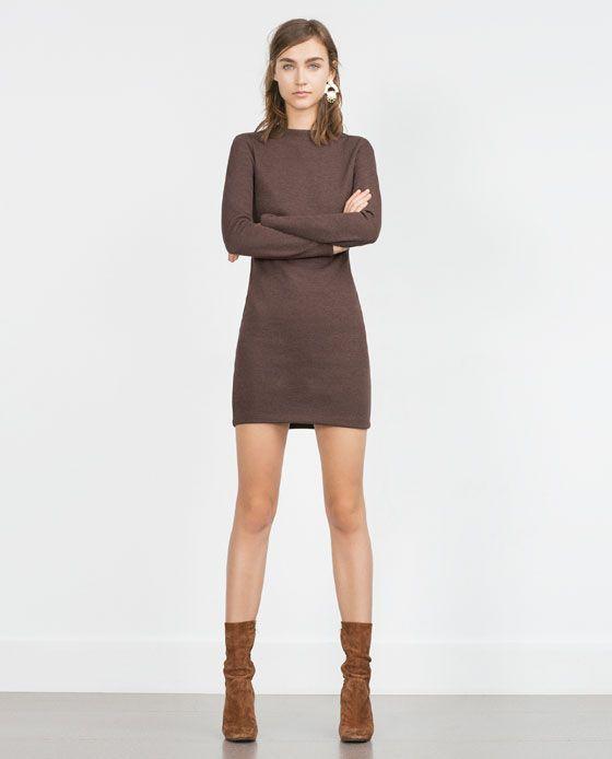 Zara Kobieta Sukienka Z Dzianiny Fall Winter 2015