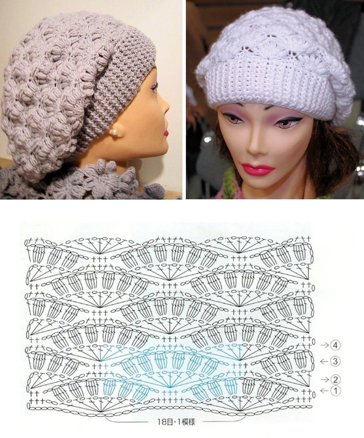 Crochet Slouch Hat | Gorro | Pinterest