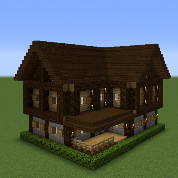 Small Survival House 1 Blueprints for MineCraft Houses Castles Towers and more