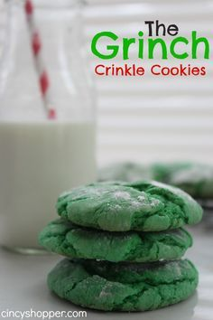The Grinch Crinkle Cookies