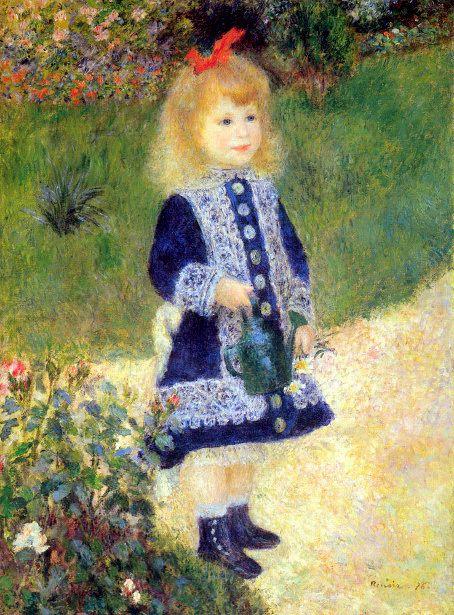 A Girl With A Watering Can Renoir - Auguste Renoir Washington D.C.