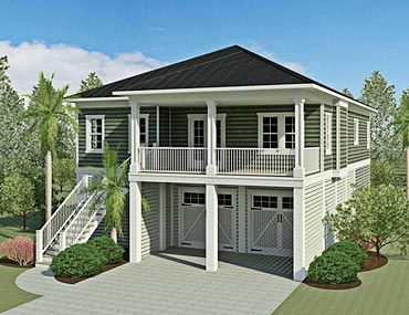 Coastal Home Design Plans baxter street  coastal home plans (2,150 heated sf, 4bd/3ba) l
