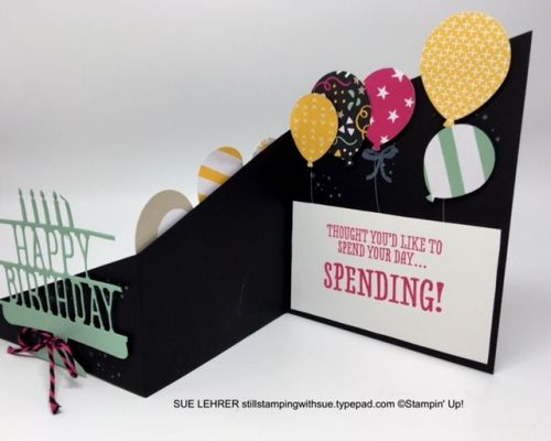 How to Make a Handmade Two-Sided Z-Fold Gift Card Holder using BYOP, Balloon Celebration & Timeless Textures Stamp Sets from Stampin' Up!
