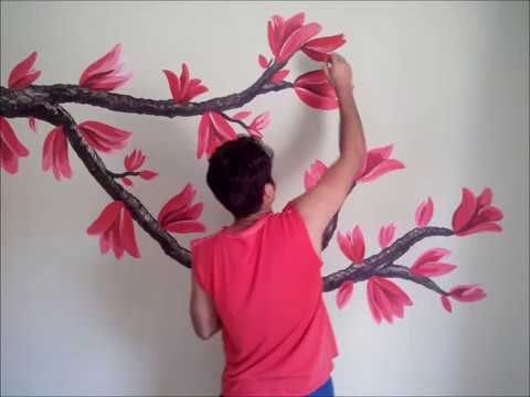 Adriana Leonel Strambi Arte Em Parede Arvore Youtube Tree Wall Painting Wall Paint Designs Wall Painting