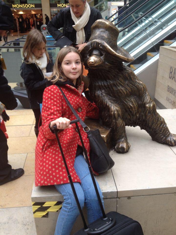 Me and paddington bear at paddington station