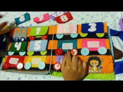 Libro sensorial de tela para Thiago - Quiet book - YouTube