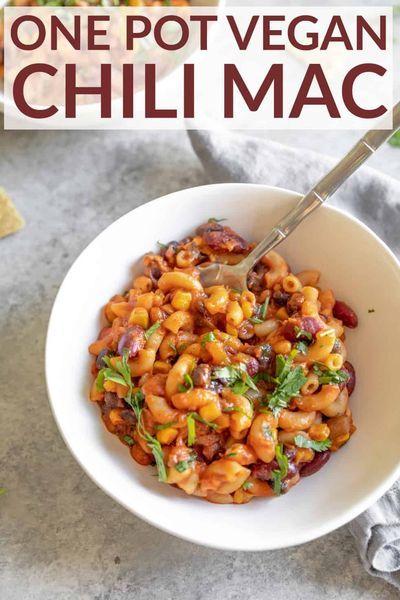 One Pot Vegan Chili Mac - Delish Knowledge