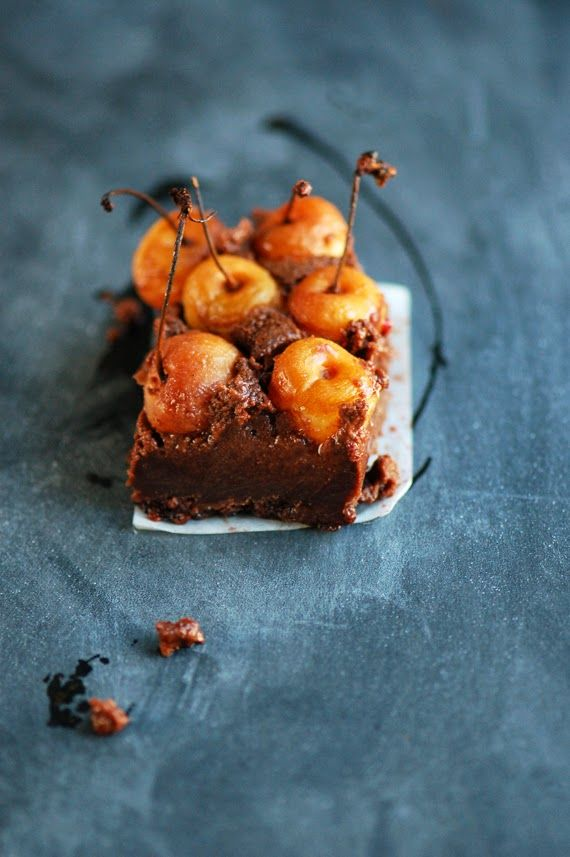 ... brownie clafoutis ...