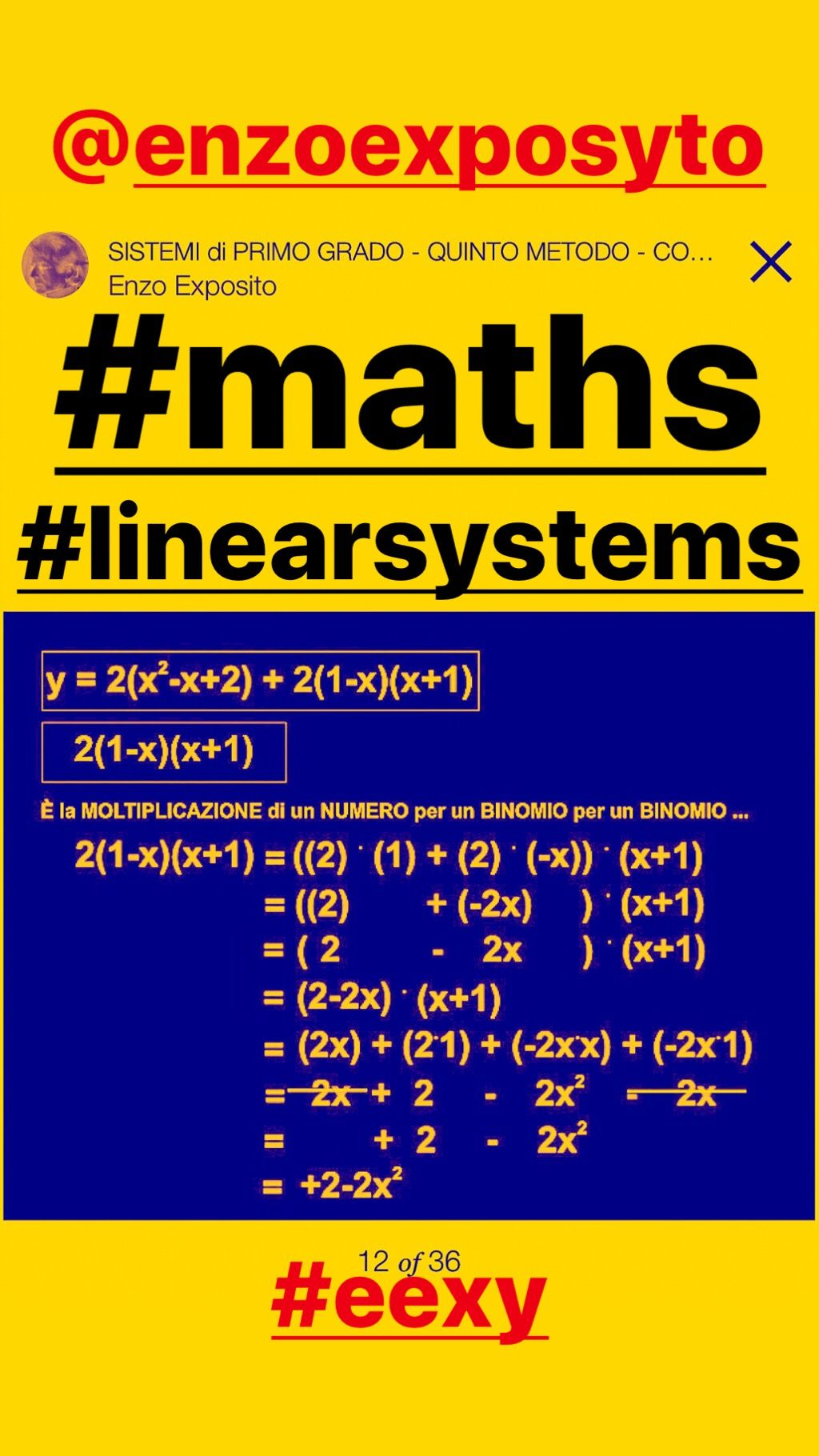 Linear System With 2 Variables X Y