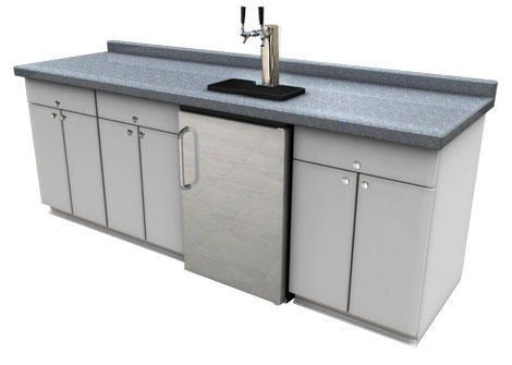 Kitchen Island Kegerator summit kegerator | summit under-counter draft beer dual faucet