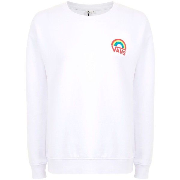 eb28aa7df69b7d Rainbow Sweatshirt by Vans ( 65) ❤ liked on Polyvore featuring tops ...
