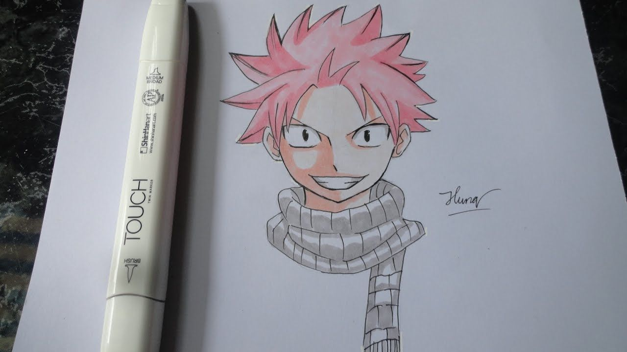 How To Draw Natsu Dragneel Fairy Tail Step By Step Tutorial Part 2 Natsu Dragneel Drawings Natsu