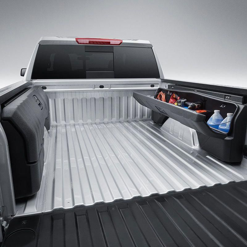 2019 Silverado 1500 Side Mounted Bed Storage Box Package Short Box Truck Accessories Truck Accesories Truck Bed Accessories