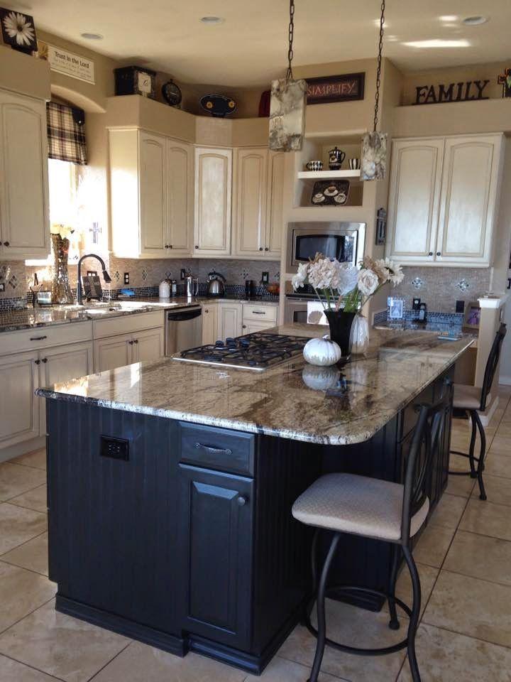 Annie Sloan Graphite Kitchen Cabinets Graphite W Dark Wax On Island Amp Beadboard Kitchens