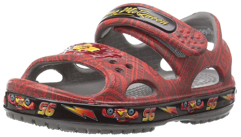 Crocs Kids' Cars Lightning McQueen Sandal >>> For more