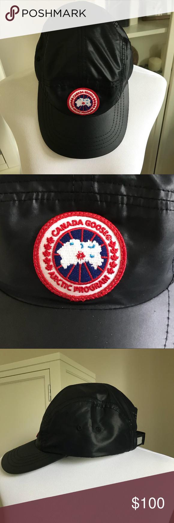 62e178eb3d3 Canada Goose x Concepts Black Nylon Ball Cap Hat