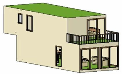 2 stories 1280 Sq Ft container home, utilizing 4 40foot shipping containers  is explored below