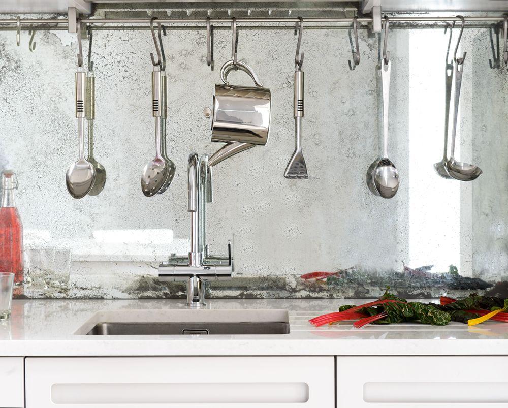 Mirrored Kitchen Splashback | Backsplash kitchen | Pinterest ...