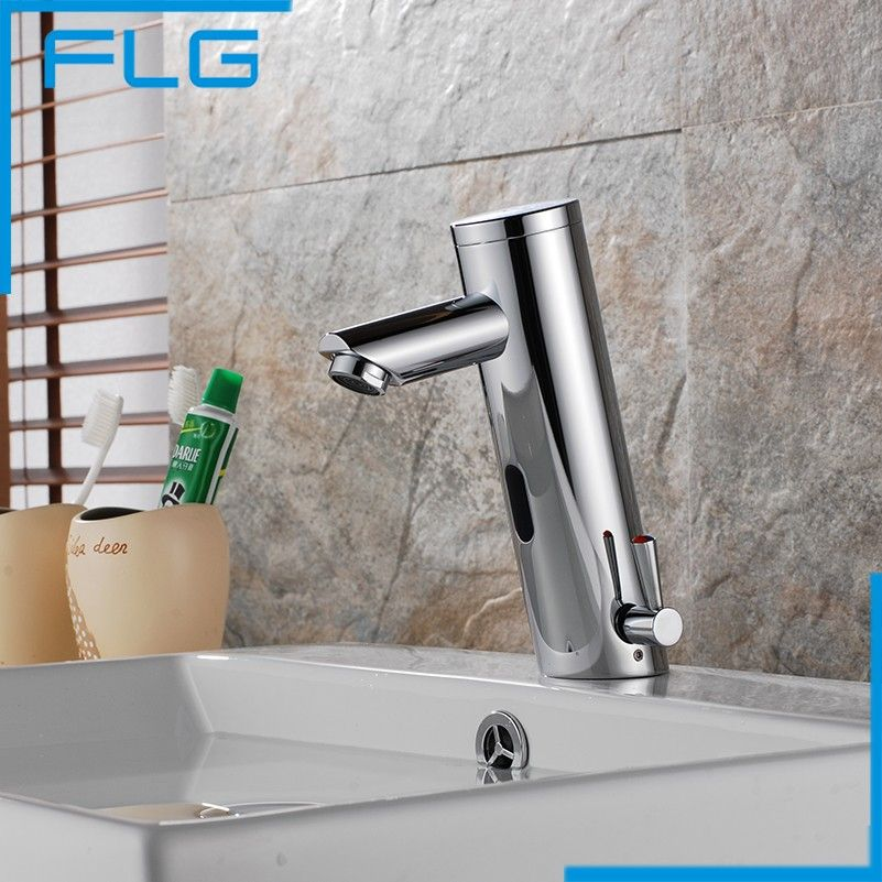 Design Hot And Cold Automatic Hands Touch Free Sensor Faucet Bathroom Sink Tap Br