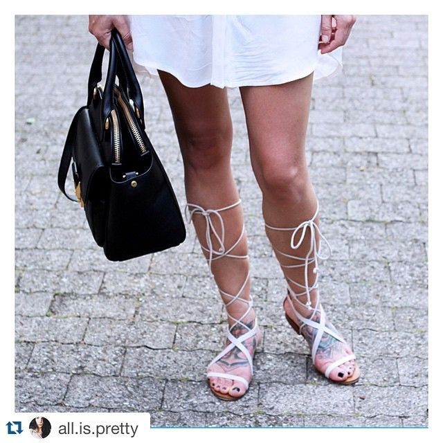 We can't get enough  of @all.is.pretty! The perfect summer look- Aminia double zip and gladiator sandals! #mh #matthewharris #aminia #look #streetlook #style #blogger #fashionblogger