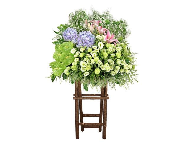 Funeral Flower Stand #HKF001 | Funeral | Pinterest | Funeral flowers ...