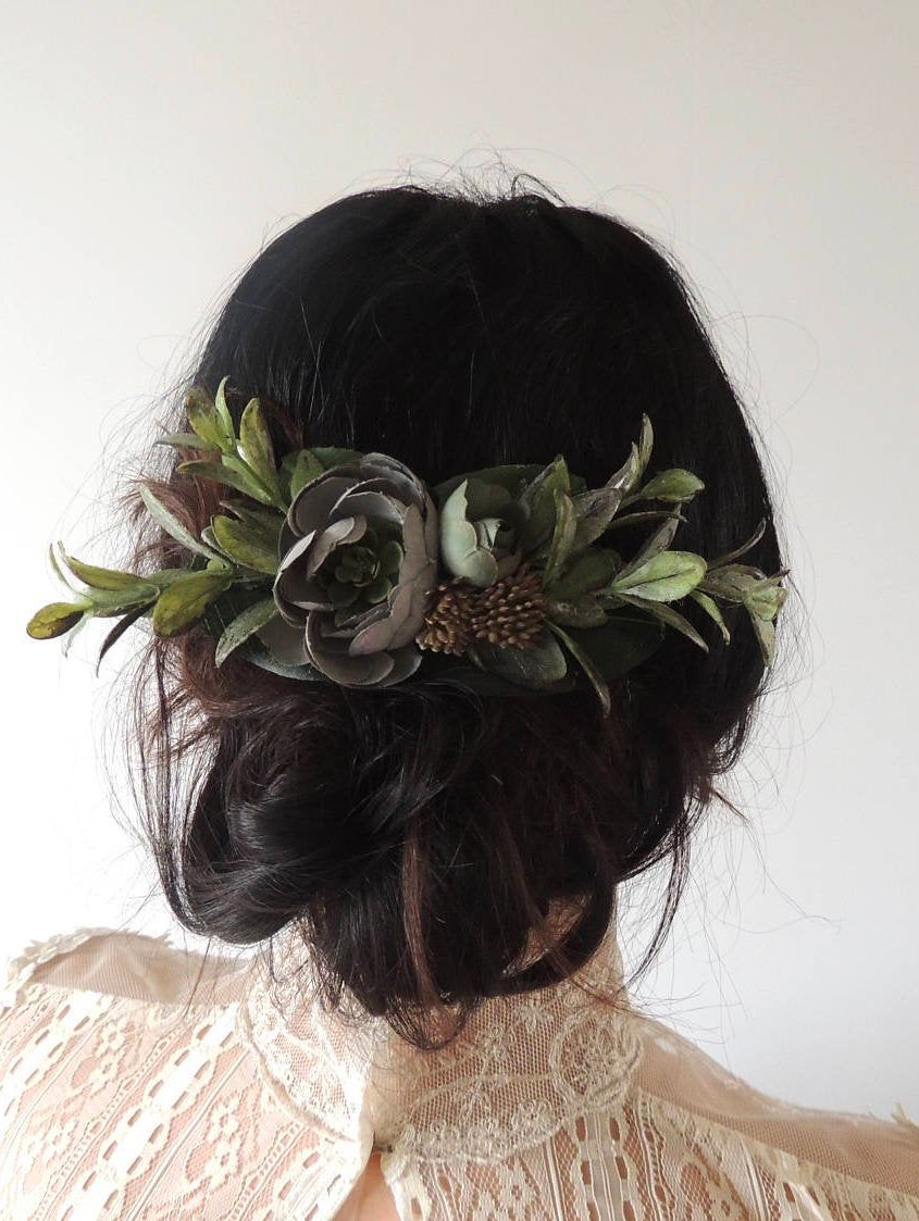 Wedding Flower Hair Clip, Bridal Hairpiece for Boho Wedding