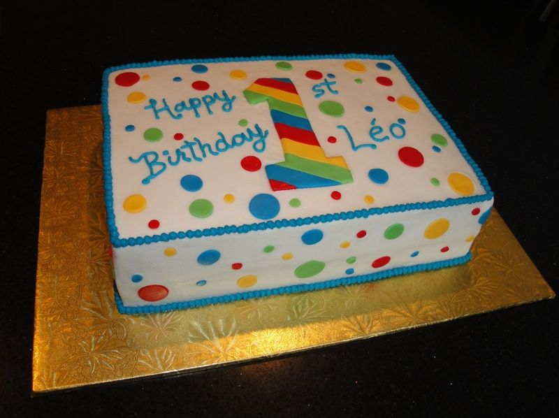 Multi Colored First Birthday Cake With Images Boys First