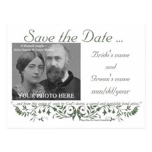 Catholic Wedding Set Save The Date Template Cc Postcard | Catholic