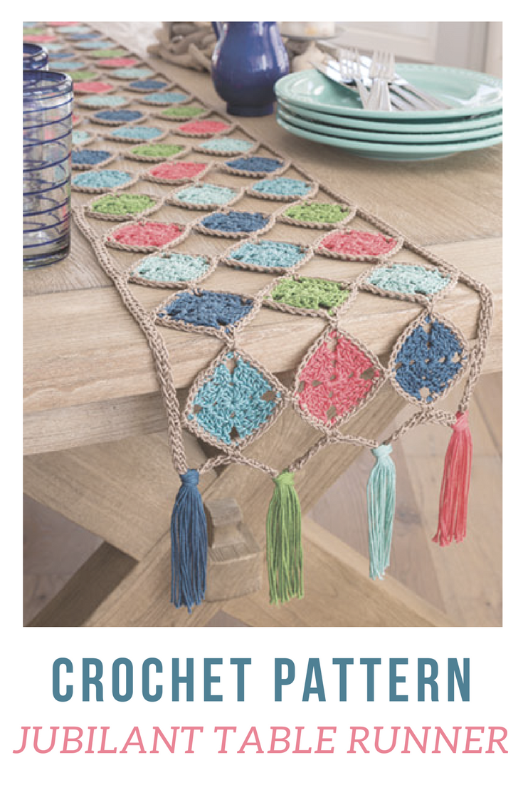 LOVING this crochet table runner! Wow how beautiful perfect for spring and summer. how creative #crochettablerunner #crochethomepatterns #crochetpatterns #tablerunner #crochet #crochetpatterns #affiliate