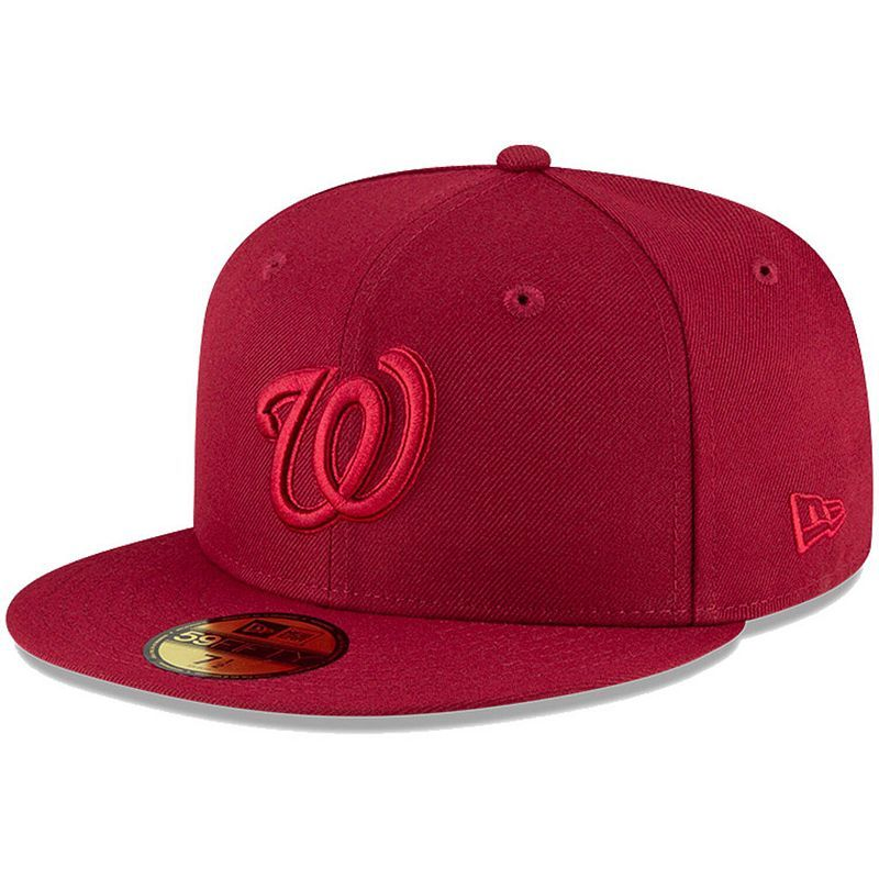 Men S New Era Cardinal Washington Nationals Tonal 59fifty Fitted Hat In 2021 Fitted Hats Hats For Men Washington Nationals