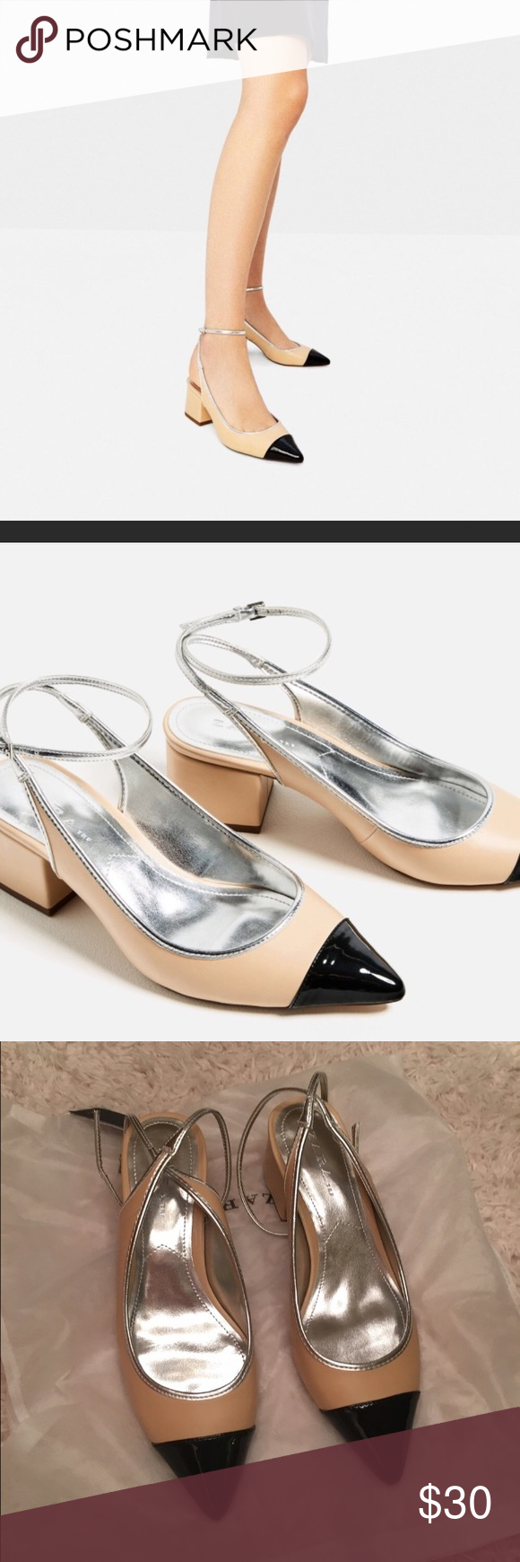 ZARA COCO CHANEL STYLE PUMPS SHOES NEW