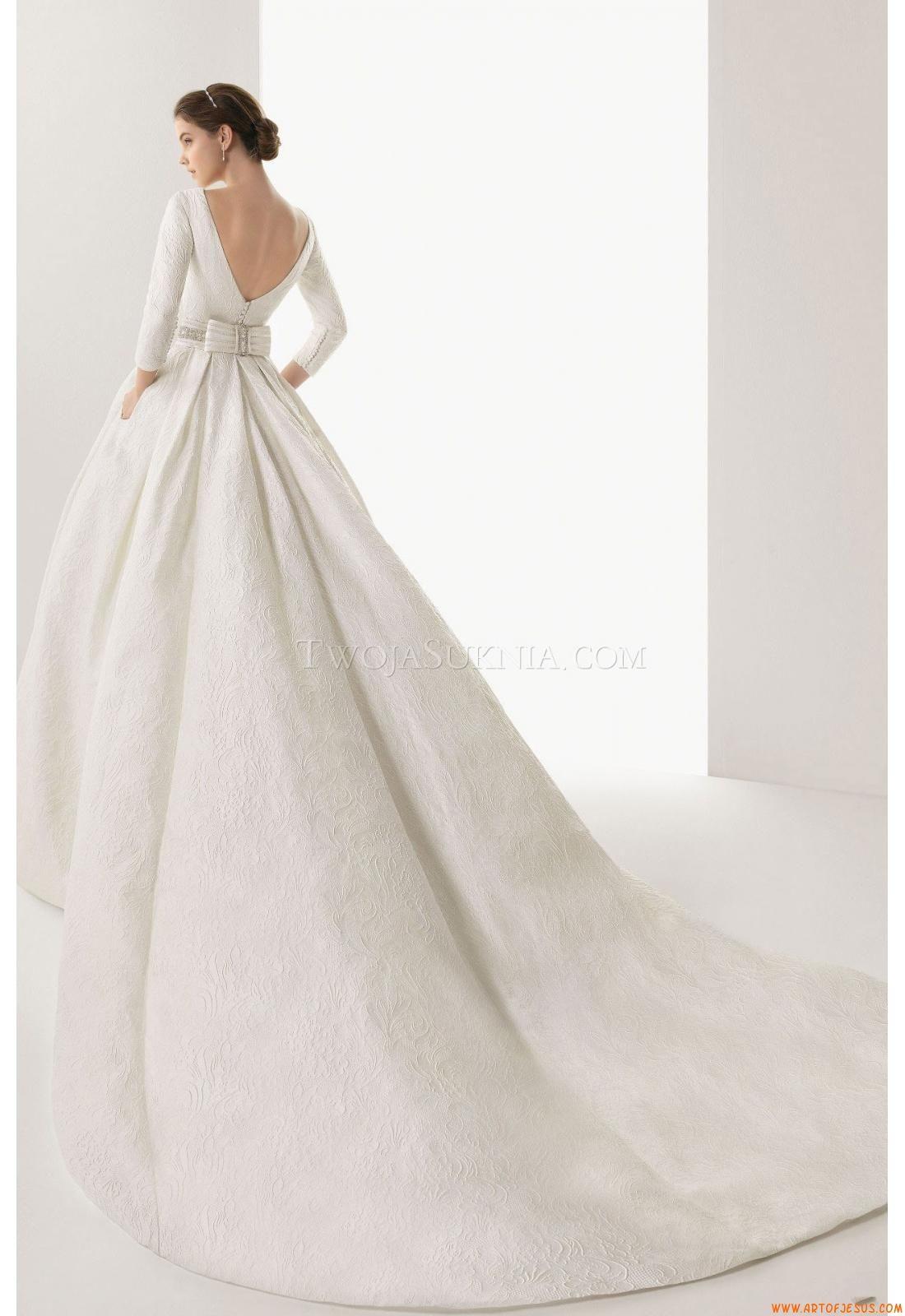 Ball gown wedding dress with sleeves  Moderne Ausgefallene Schöne Brautkleider aus Satin mit Spitze