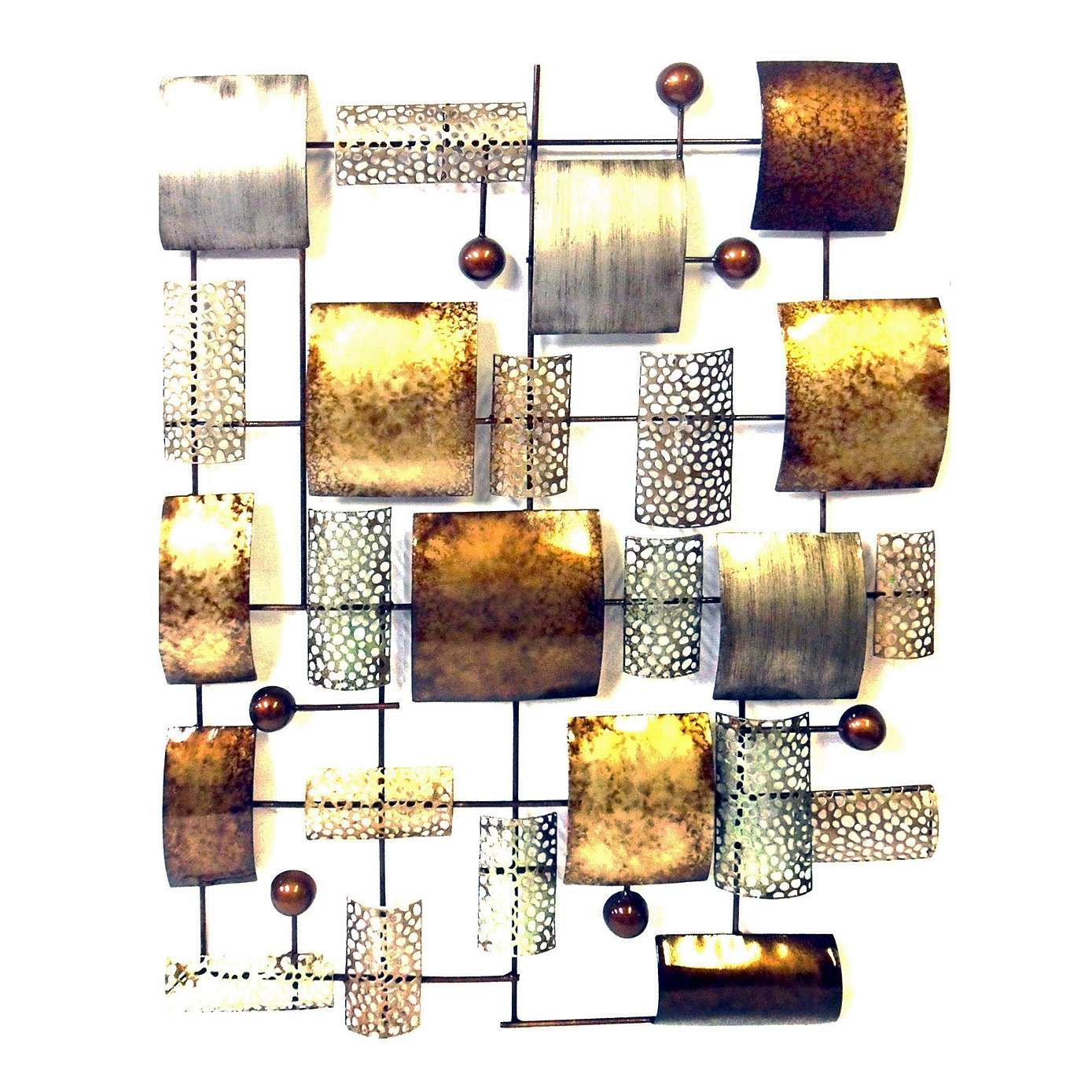 Abstract metal panel wall art dunelm