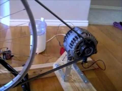 Using An Alternator Mountain Bike And An Inverter We Build A