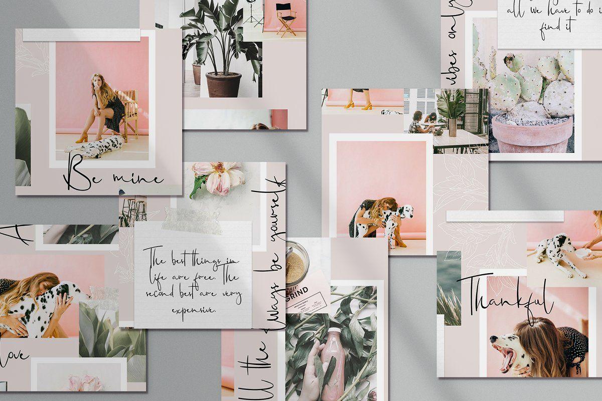 Adele Instagram Puzzle Canva Creative Instagram Templates Creative Market In 2020 Adele Instagram Website Design Tools Instagram