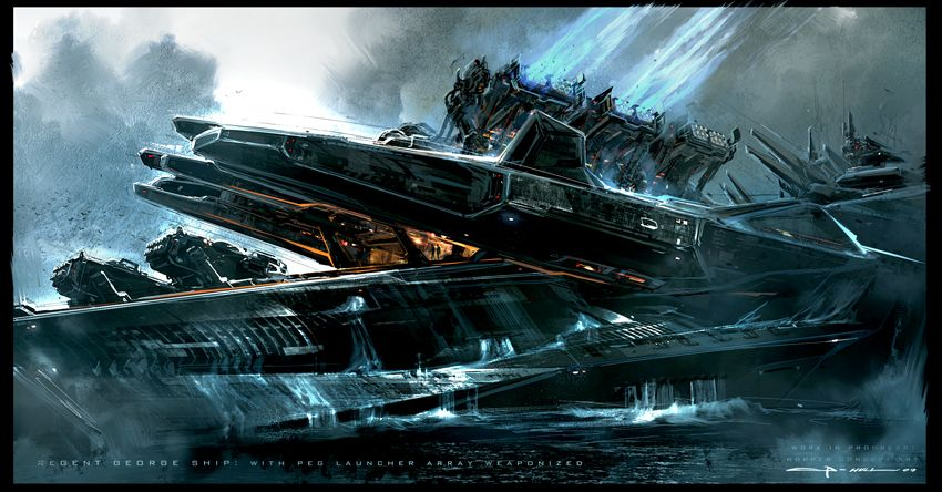 Battleship Concept Art by George Hull. | Motion Picture ...