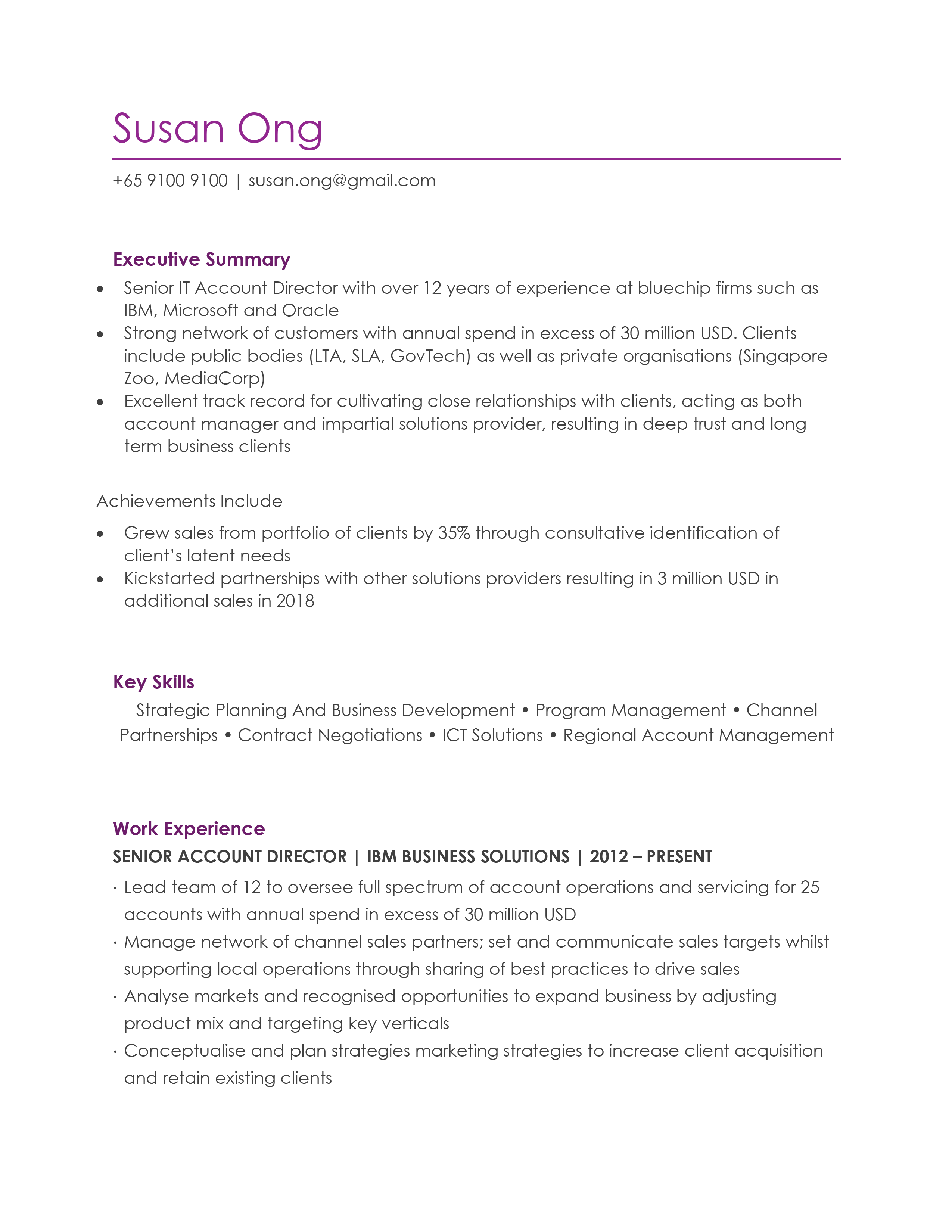 Pin on CV Resume Samples, Templates and Tips Singapore