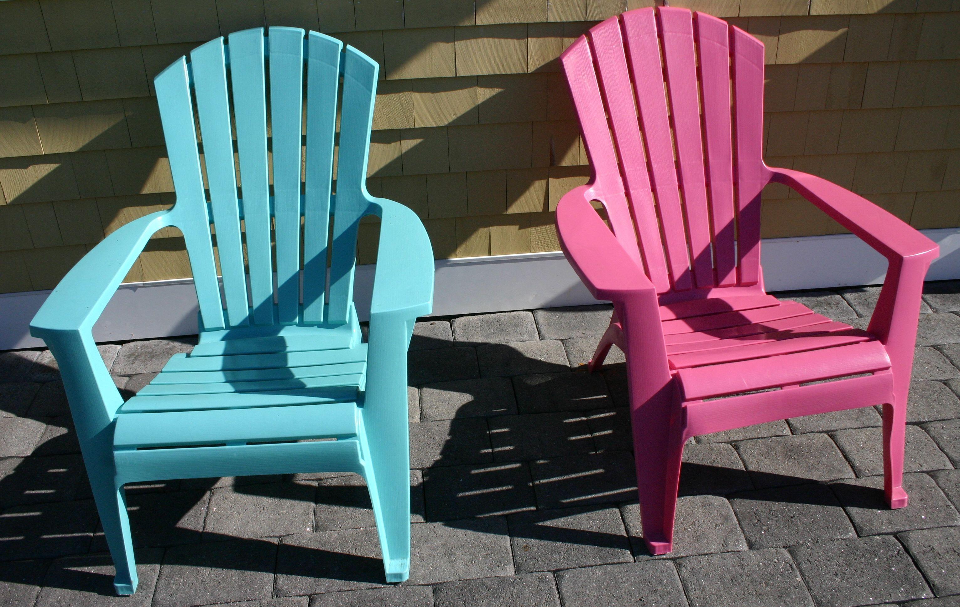 blue & pink adirondack chairs Just Chillin