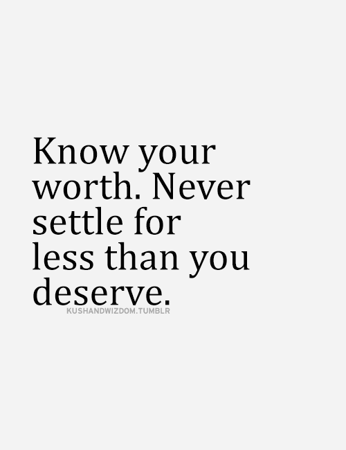 your worth.