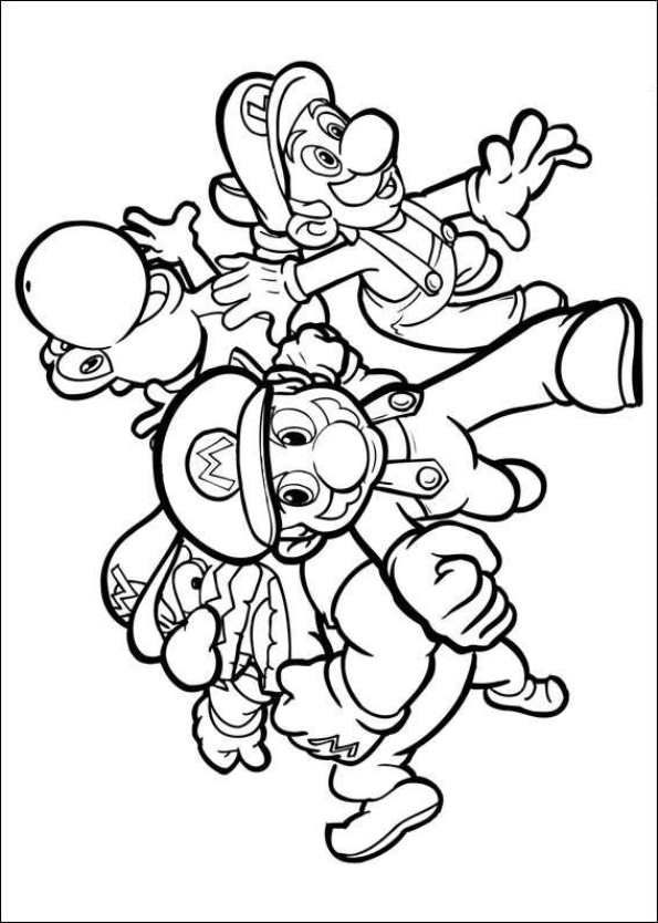 Printable Coloring Page Super Mario Bros