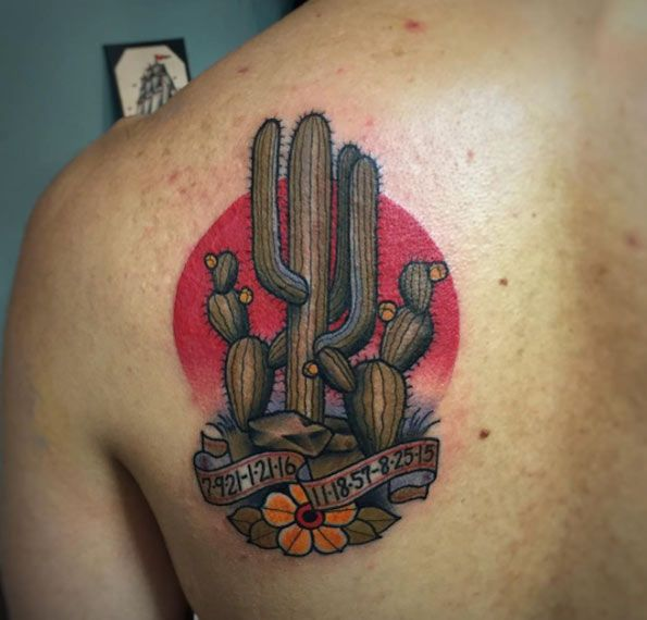 89523cad2 Cactus Tattoo Design by Abel Sanchez. The 36 Coolest Cactus Tattoos To Ever  Exist - TattooBlend ...