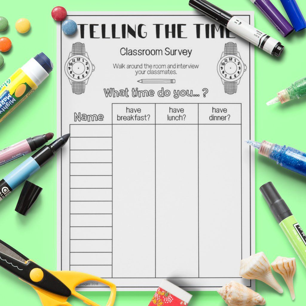 Telling The Time Class Survey
