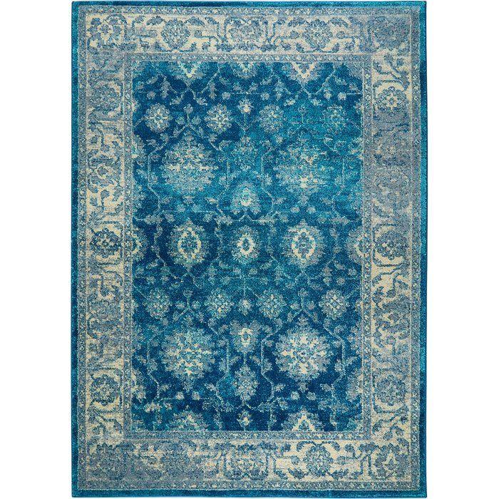 Moller Oriental Blue / Ivory Area Rug Area rugs, Rugs